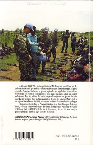 4eme Des conflits locaux à la guerre régionale en Afrique Centrale