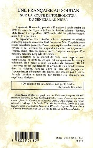 4eme Une française au Soudan sur la route de Tombouctou, du Sénégal au Niger