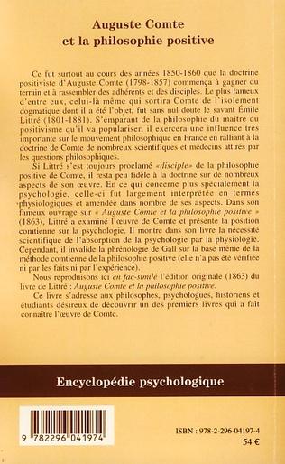 4eme Auguste Comte et la philosophie positive