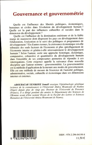4eme Gouvernance et gouvernométrie