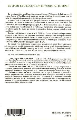 4eme Le sport et l'éducation physique au Burundi