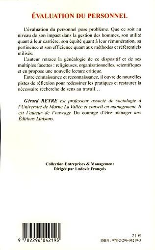 4eme Evaluation du personnel