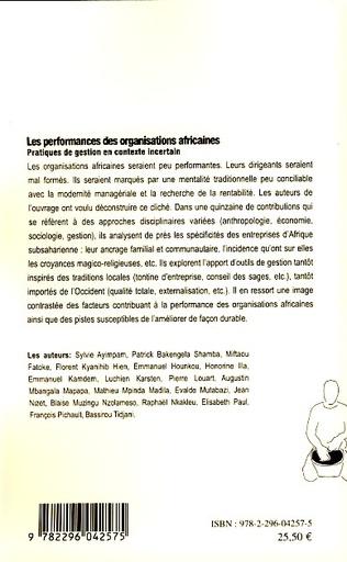 4eme Les performances des organisations africaines