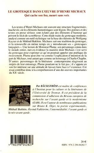 4eme Le grotesque dans l'oeuvre d'Henri Michaux