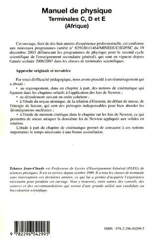 4eme Manuel de Physique