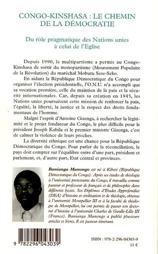 4eme Congo-Kinshasa: le chemin de la démocratie