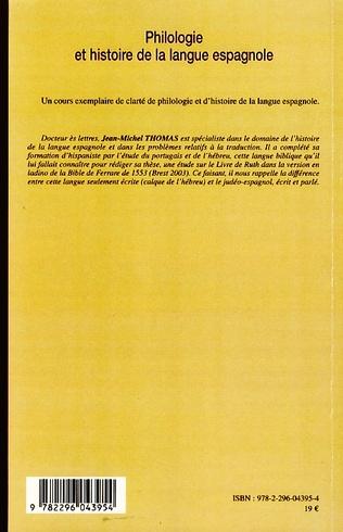 4eme Philologie et histoire de la langue espagnole