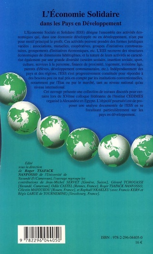 4eme L'économie solidaire dans les pays en développement