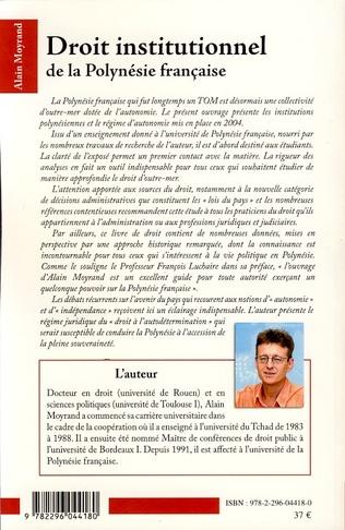 4eme Droit institutionnel de la Polynésie française