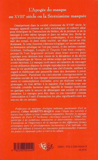 4eme L'Apogée du masque au XVIIIe siècle ou la Sérénissime masquée