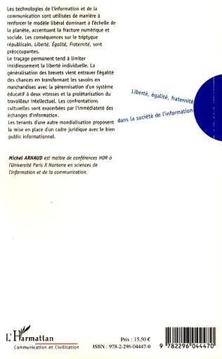 4eme Liberté, égalité, fraternité dans la société de l'information