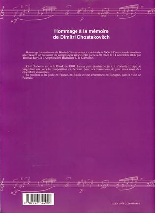 4eme Hommage à la mémoire de Dimitri Chostakovitch
