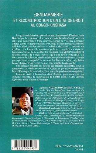4eme Gendarmerie et reconstruction d'un état de droit au Congo-Kinshasa