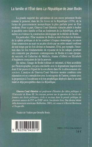 4eme La famille et l'Etat dans La République de Jean Bodin