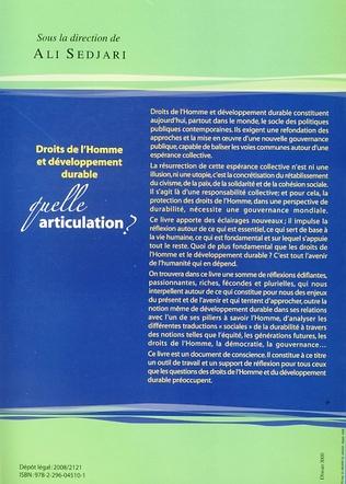 4eme Droits de l'Homme et développement durable