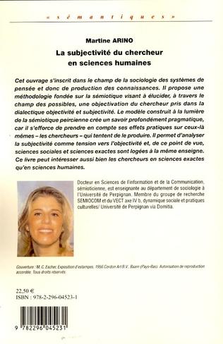 4eme La subjectivité du chercheur en sciences humaines