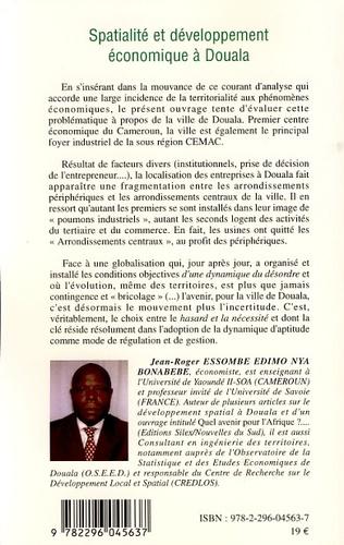 4eme Spatialité et développement économique à Douala