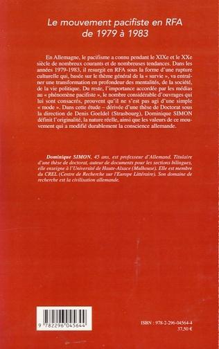 4eme Le mouvement pacifiste en RFA de 1979 à 1983