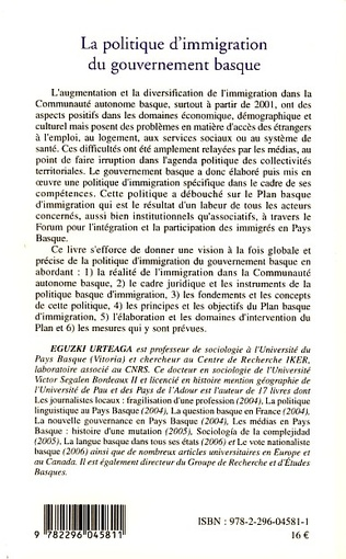 4eme La politique d'immigration du gouvernement basque