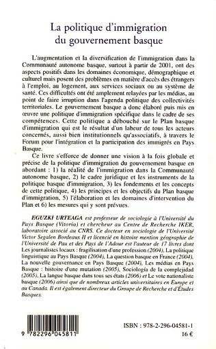 4eme La politique d'immigration du gouvernement basque