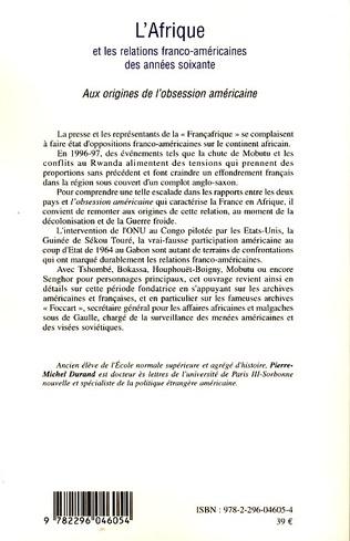 4eme L'Afrique et les relations franco-américaines des années soixante