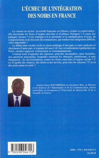 4eme L'échec de l'intégration des noirs en France