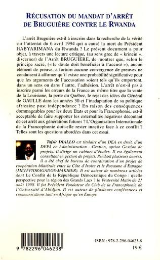 4eme Récusation du mandat d'arrêt de Bruguière contre le Rwanda