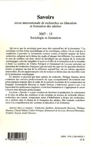 4eme Sociologie et formation
