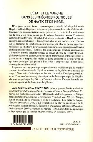 4eme L'Etat et le marché dans les théories politiques de Hayek et de Hegel
