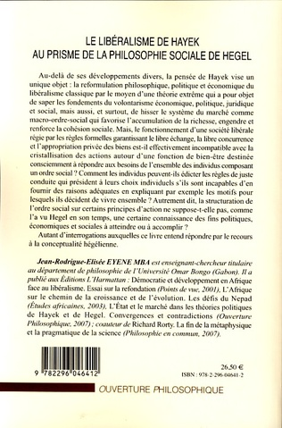 4eme Le libéralisme de Hayek au prisme de la philosophie sociale de Hegel