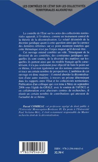 4eme AIDES PUBLIQUES LOCALES ET CONTROLE DE L'ETAT