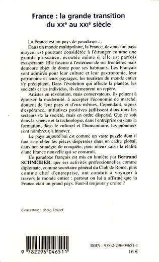 4eme France : la grande transition du XXe au XXIe siècle