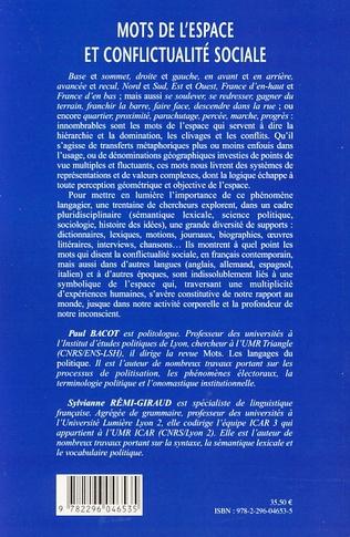 4eme Mots de l'espace et conflictualité sociale