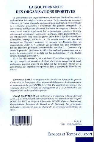 4eme La gouvernance des organisations sportives