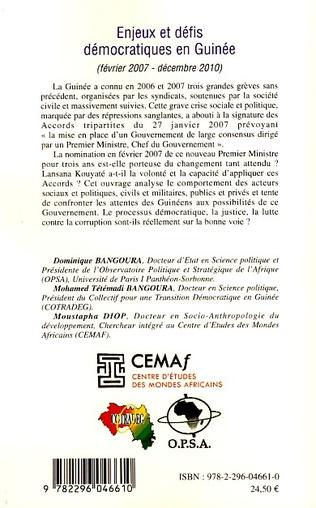 4eme Enjeux et défis démocratiques en Guinée