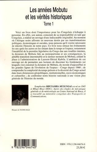 4eme Les années Mobutu et les vérités historiques