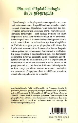 4eme Manuel d'épistémologie de la géographie