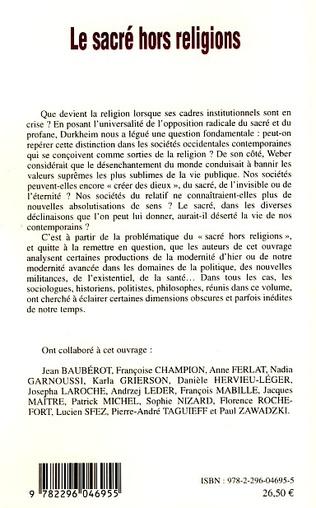 4eme Le sacré hors religion
