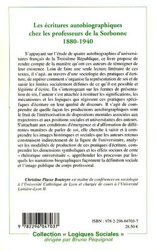 4eme Les écritures autobiographiques chez les professeurs de la Sorbonne 1880-1940