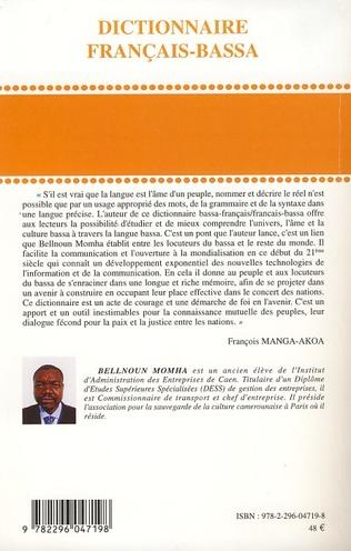 4eme Dictionnaire français-bassa