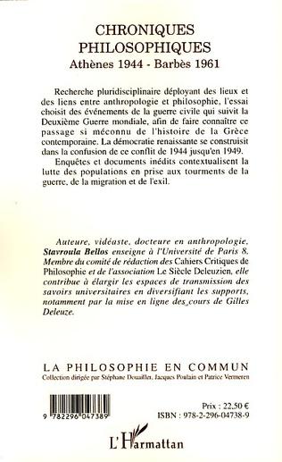4eme Chroniques philosophiques