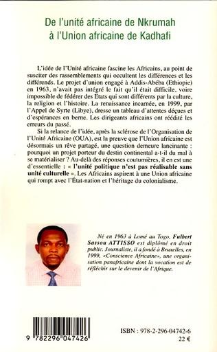 4eme De l'unité africaine de Nkrumah à l'Union africaine de Kadhafi