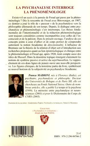 4eme La psychanalyse interroge la phénoménologie