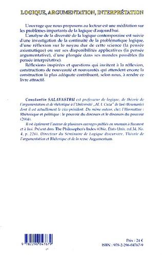 4eme Logique, argumentation, interprétation