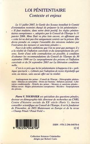 4eme Loi pénitentiaire