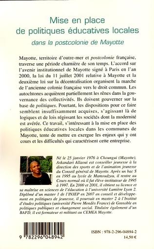 4eme Mise en place de politiques éducatives locales dans la postcolonie de Mayotte