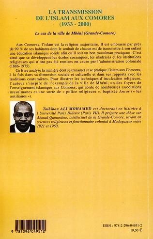 4eme La transmission de l'islam aux Comores (1933-2000)