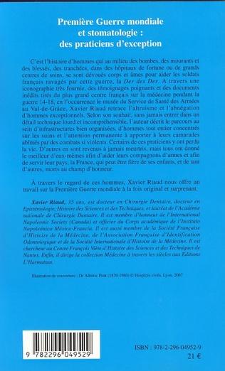 4eme Première Guerre mondiale et stomatologie : des praticiens d'