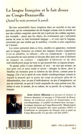 4eme La langue française et le fait divers au Congo-Brazzaville