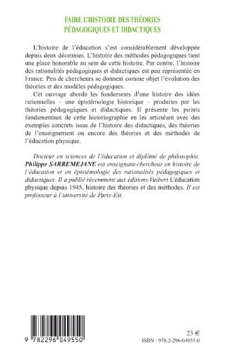 4eme Faire l'histoire des théories pédagogiques et didactiques
